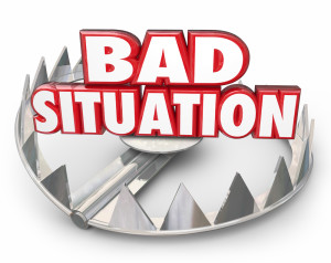 Bad Situation 3d Words Bear Trap Trouble Problem Issue