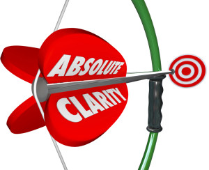 Absolute Clarity Words Bow Arrow Perfect Focus Aim Targeting