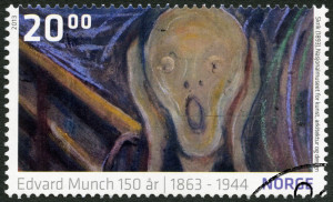 NORWEY - 2013: shows Detail from The Scream by Edvard Munch (189